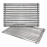 Hongso 7521 7522 7523 15' Stainless Steel Grill Grates for Weber Spirit 200 Series, Spirit E/S 200 & 210, Genesis Silver A, Spirit 500 Gas Grill (with Side Control Panel) 65905 65904, SCG521