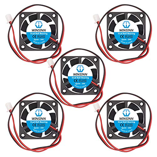 WINSINN 40mm Fan 24V Dual Ball Bearing Brushless 4010 40x10mm - Quiet (Pack of 5Pcs)