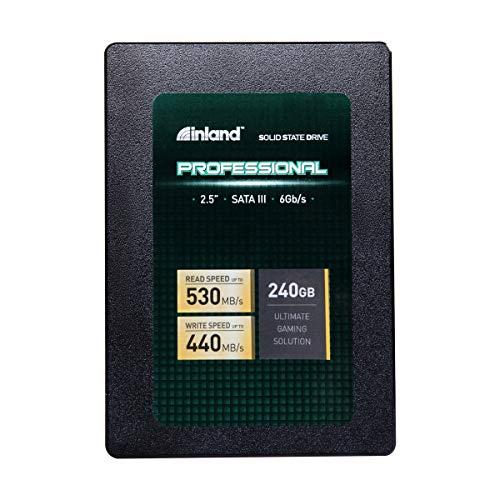 Inland Professional 240GB SSD 3D NAND SATA III 6Gb/s 2.5' 7mm Internal Solid State Drive (240G)