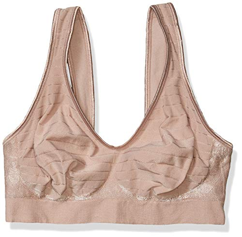 Bali womens Comfort Revolution Wirefree With Smart Sizes Full Coverage Bra, Evening Blush Stripe, XX-Large US