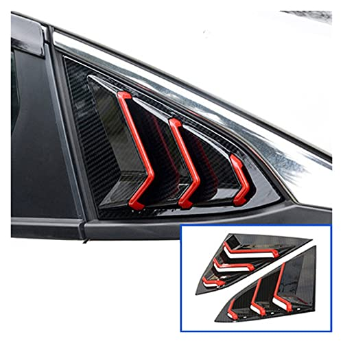 CAR EXTERIOR LOUVER INTAKE VENT COVER SCOOPS FOR HONDA CIVIC 2016-2020 CAR 1 | 4 SIDE VENT WINDOW SCOOP LOUVER TRIM 1 PAIR HOOD SCOOPS (COLOR : A)