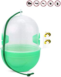 Volwco 1Pcs Wasp Traps Catcher, Natural Hanging Flies Wasp Catcher, Yellow Jackets Traps, Hornets Trap for Outdoors, Bugs Control in Home Garden - Effective & Reusable