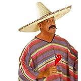 Großer Sombrero Hut Mexikanischer Strohhut XL Mexikaner Sommerhut Mexiko Riesen Gringo Partyhut Sonnenhut Tequila Party Kopfbedeckung Fasching Sommer Mottoparty Accessoire Karneval Kostüm...