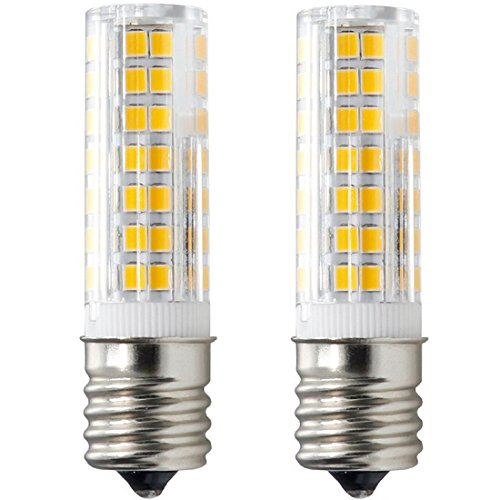 Microwave Oven Appliance 6W E17 LED Bulb (60W Halogen Bulb Equivalent) Warm White 3000K Dimmable Ceramic Body Microwave Oven Light Bulb (Pack of 2)