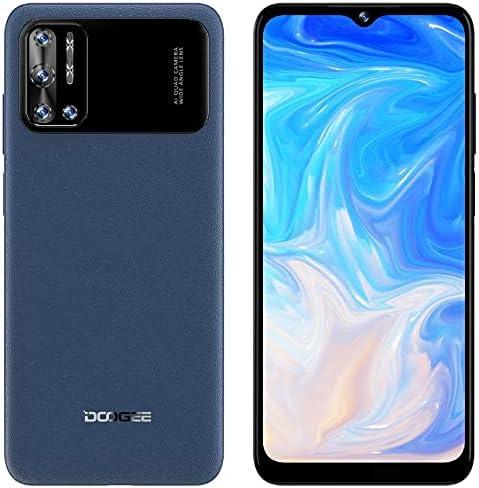 DOOGEE N40 Pro Android 11 Móvil Libres 4G, Helio P60 Octa-Core 6GB+128GB, 6.52'' HD+ Teléfono, Batería 6380mAh, Cámara Trasera Cuatro 20MP, Cámara Frontal 16MP, Huella Digital Dual SIM GPS Azul