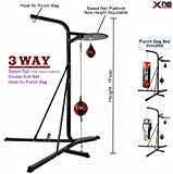 Xn8 Sports 3 Way Frame Boxing Speedball Platform Stand Double End Speed ball Frame (3 Way Frame Only with Speed Balls (No Punch Bag))