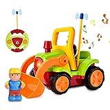 Home Holic Coche para Niños Pequeños con Control Remoto, con Música y Luz, Regalo de Cumpleaños para Niños, Niñas, Niños, Verde