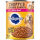PEDIGREE Chopped Ground Dinner Wet Dog Food, 13.2 oz. Cans, Pack of 12