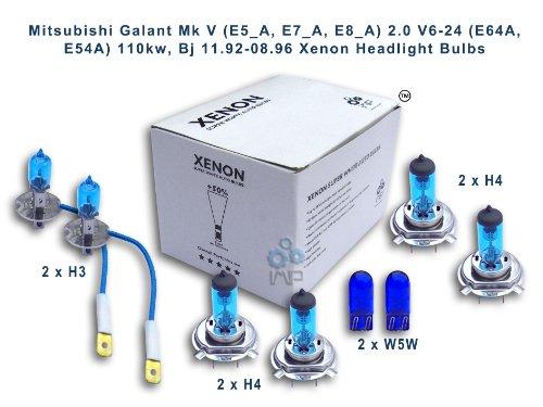 Mitsubishi Galant Mk V (E5_A, E7_A, E8_A) 2,0 V6-24 (e64a, e54a) 110kw, Bj 11, 92-08, 96 Per fari allo xeno lampadine H3, H4, H4, W5W