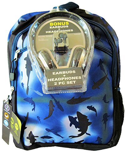 FAB Starpoint Boys Camo Backpack with Headphones