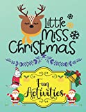 Little Miss Christmas: A Educational Christmas Word Puzzles, Sudoku Puzzles, Mazes Book For Kids Learner