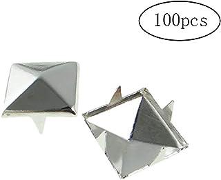 Rock Crystals & Gems UK 100 X Clous En Forme De Pyramide Mode Biker Et Gotique Punk De 5mm Argentés Pour Sacs En Cuir Ou Chaussures