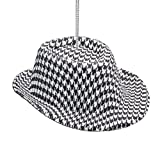 Party Explosions 1 X Houndstooth Fabric Hat Ornament -Christmas Holiday Ornament Gift