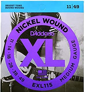 D'Addario Electric Guitar Strings XL Nickel Wound EXL115 Daddario