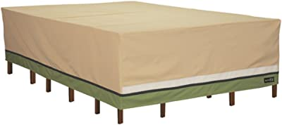 Sure Fit Deluxe Rectangle Table and Chair Set Cover, Taupe