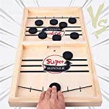 Fast Sling Puck Game, Table Desktop Battle Ice Hockey Game/Winner Board Games, Desktop Sport Board Game for...