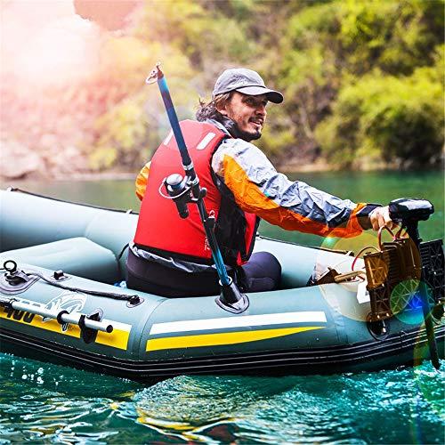 XFSD Verdicktes PVC-Kajak für den Außenbereich, 3/4-Personen-Schlauchboot mit Fischerboot, Gummiboot Hovercraft, mit Aluminium-Doppelrudern, motorisch montierbar, Schwimmweste + Aufbewahrungsrucksack - 2