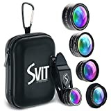 SVIT Phone Camera Lens Kit - 5 in 1 Optical Glass Mobile Attachment