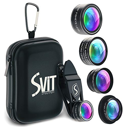 Phone Camera Lens Kit - 5 in 1 Universal Set For iPhone, Samsung, Mobile Phones and Tablets - 2X...