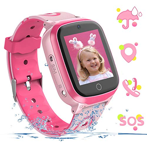 YENISEY Kids Smart Watch Waterproof GPS+WiFi Tracker for 3-12 Year Girls Boys,with SOS HD Touch...