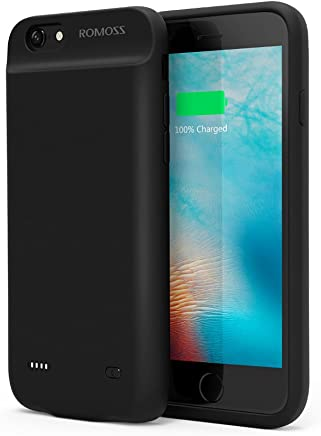 iPhone 6 / 6s Battery Case, ROMOSS Ultra Slim Extended Battery Case for iPhone 6 / 6s (4.7 inch) with 2800mAh Capacity (Black)