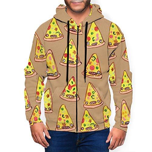 Ham And Pineapple Pizza sweatshirt met capuchon voor heren sweatshirt met ritssluiting casual tas