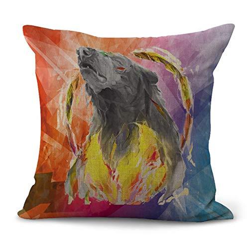 N/V A1153 Funda de almohada de lino para el hogar decorativa funda de almohada para sofá de coche