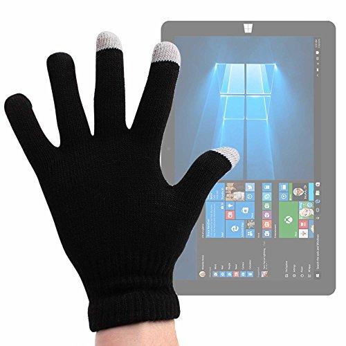 DURAGADGET Guantes Negros para Pantalla Táctil para Tablet Acer Switch 3 / Chuwi SurBook/Gbtiger L1008 / HP Spectre X2 - Talla Pequeña - ¡Ideales para El Invierno