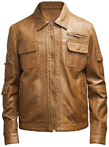 Leatherbox -  Giacca - Giacca - Uomo Tan X-Large