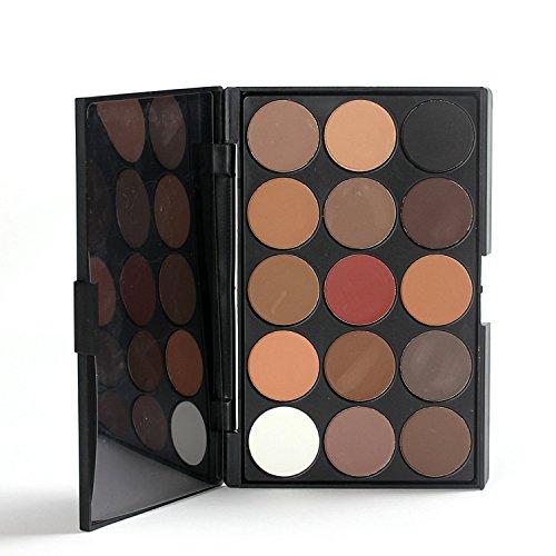 MZP 15 couleurs fard à paupières mat de bavures de la durée de maquillage cas cosmétiques couleur terre