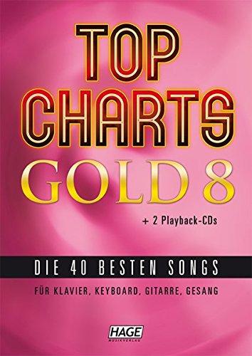 Top Charts Gold 8 (mit 2 CDs): Die 40 besten Songs für Klavier, Keyboard, Gitarre und Gesang