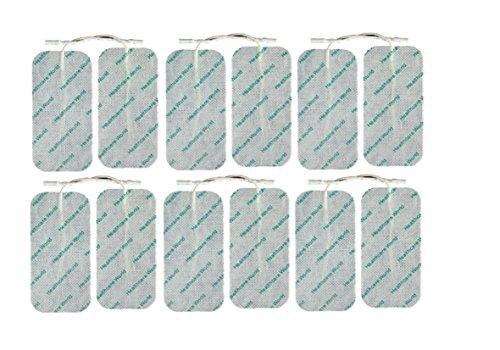 Große Elektroden für TENS EMS Reizstromgeräte 12 Stück 100mm x 50mm from Healthcare World ®