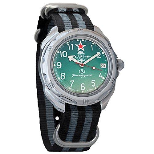 Vostok Komandirskie Russian Airborne Forces VDV Ejército mecánico para hombre Comandante Militar reloj de pulsera #211307