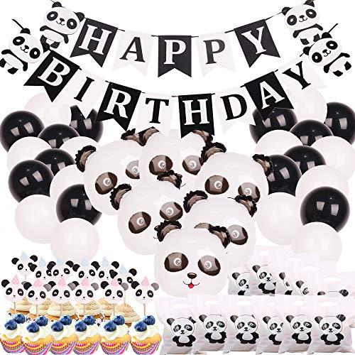 foci cozi Panda Party Dekorationen liefert Alles Gute zum Geburtstag Banner Mylar Ballons Panda CakeToppers und Geschenktüten für Panda Bear Baby Shower Dekorationen