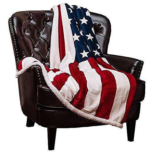 Patriotische US-Flagge drucken Sherpa Decke leicht für Couch EIN tolles Geschenk für Veteran FrienMen Frauen ProuAmerican House