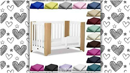 Housse de couette pour lit bébé avec taie d'oreiller - Coton naturel de qualité supérieure - 120 x 150 cm - Bleu clair