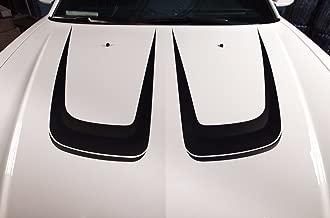 Factory Crafts Dodge Charger 2011-2014 Hood C-Stripe Graphics Kit 3M Vinyl Decal Wrap - Matte Black