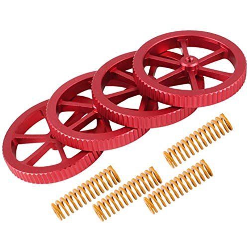 Leveling Nut Leveling Spring Kit 3D Printer Parts Metal for Heated Bed 3D Printer 4pcs For CR-10,CR-10 Mini,CR-X,Ender 3,Ender 3 Pro,Ender 5