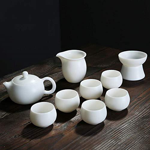 N/B Kung Fu Teeservice kompletter Satz von Schafsfett Jade Porzellan weiß Keramik Home Office Rezeptionist Trinken Tee einfache Teetasse