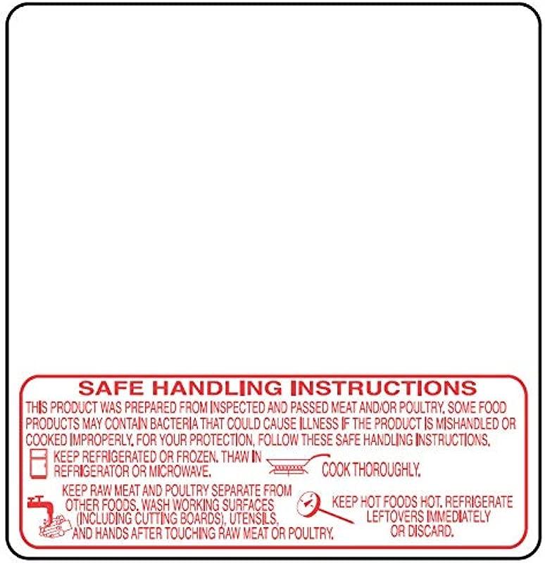 Torrey W Label Safe Handling Instruction Labels 58mm X 60mm 500 Roll 12 Rolls Case Tor Rey