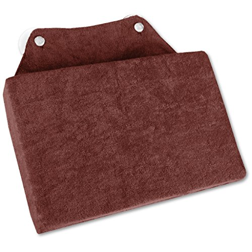 Bestlivings Badewannenkissen Nackenkissen Kissen mit Saugnäpfen Auswahl: ca. 16 x 25 cm, Farbe: braun - Choco