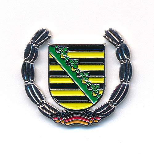 hegibaer Sachsen Wappen Deutschland Dresden Leipzig Flagge Edel Pin Anstecker 0931