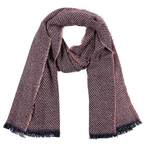 Dhmm123 Bufandas cálidas Puesto silenciador de Gran tamaño Grueso otoño de Moda y el frío Invierno de Las señoras for Hombre de la Bufanda del mantón Unisex (Color : Pink, Size : Free)