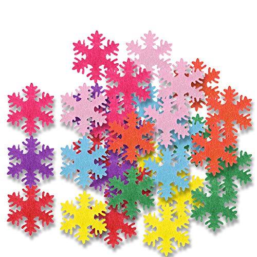 Shanrya Accesorio Decorativo, Confeti de Copo de Nieve, no Tejido 500 Piezas Accesorios escenarios Fiesta tu casa Navidad