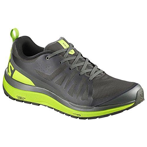 SALOMON Odyssey Pro Hiking Shoe - Men's Beluga/Lime Green/Black 7