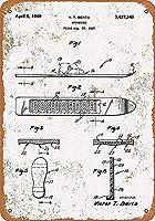 バークラブカフェファームの家の装飾アートポスター用のヴィンテージメタルティンサインスノーボード