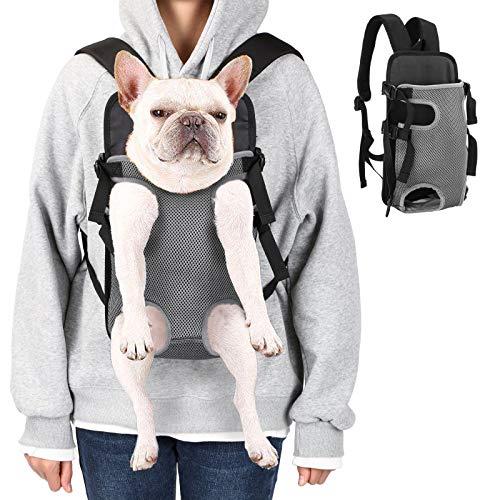 Ownpets Legs Out Front Hundeträger, freihändiger Verstellbarer Tragetasche für Haustiere, ideal für kleine und mittlere Katzen, Hund L Größe