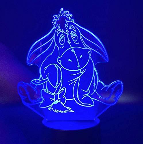 Lampe De Table 3D Lampe Winnie L'Ourson Veilleuse Pour Enfants Chambre Belle Lampe Bourriquet Capteur Tactile Veilleuses Creative Led Veilleuse 3D 1 Commande