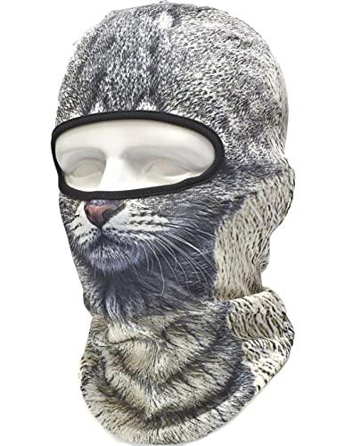 動物柄 フェイスマスク 3D アニマル マスク フルフェイスマスク バラクラバ 目出し帽/サバイバルゲーム・自...