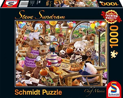 Schmidt Spiele 59663 Steve Sundram, Chef Mania, 1000 Teile Puzzle, bunt
